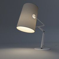 rigged desk lamp 3d model