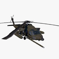 3d model uh-60 helicopter army blackhawk