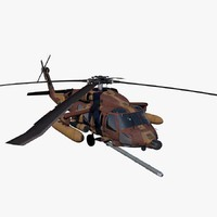 3d uh-60 helicopter idfaf blackhawk model