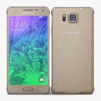 3d model samsung galaxy alpha frosted
