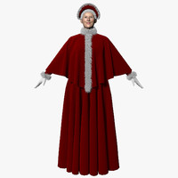 3d mrs santa claus model