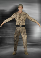 3dsmax army soldier rigged