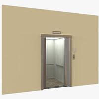 3d model elevator modeled