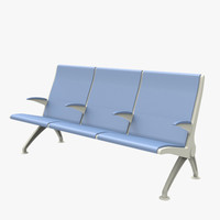3d model seating waiting room