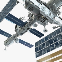 3d international space station model