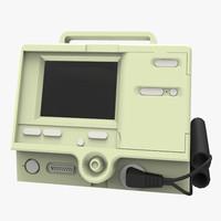 hospital defibrillator 3d fbx