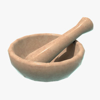 3d mortar pestle model