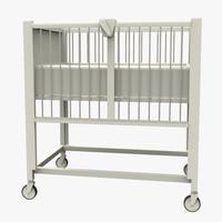 hospital crib 3d x
