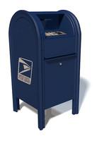 3d model usps mailbox box