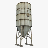 silo tower 3d x
