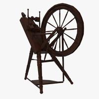 3d model wheel spinning