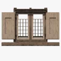 window 3d fbx