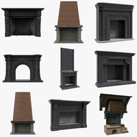 3d model of fireplaces