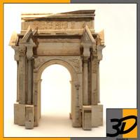 roman ruins 3d max