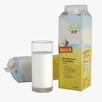 milk carton glass 3d max