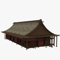 3d modular asian building model