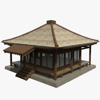 3d model of asian building