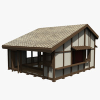 3d model of asian house