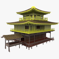 3d golden palace model