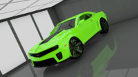 chevy camaro zl1 car 3d model