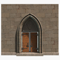 3ds max medieval door architecture