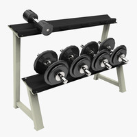 3d dumbbell rack model