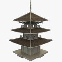 modular pagoda fbx