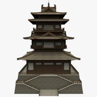 3d fbx modular castle
