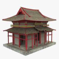 3d asian temple model
