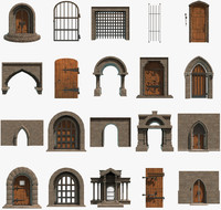 3d model of door architecture