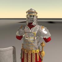 3d model roman armor