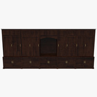 floor cabinet 3d fbx