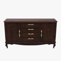 3d model floor cabinet