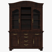 3d model glass cabinet