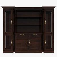 glass cabinet 3d x