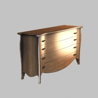 commode furniture 3d 3ds