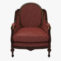 grand chair 3d model