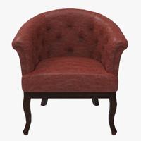 3d grand chair model