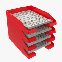 paper tray 3d fbx