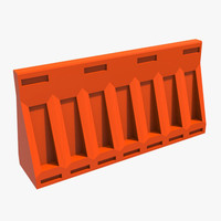 road barrier 3d model