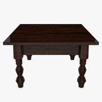 tables desk 3d model