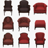 3ds max grand chairs