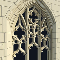arched gothic window 3d 3ds