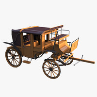 carriage car 3d model