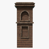chimney 3d fbx
