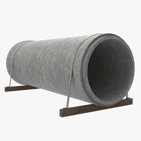 concrete pipe 3d model