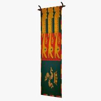 3d medieval flag