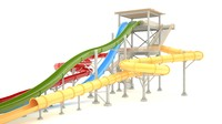 3d waterslide slide water model