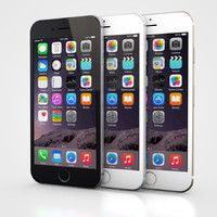 3d model iphone 6 black white