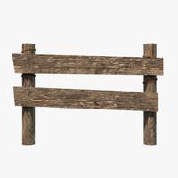 3d x wooden fence